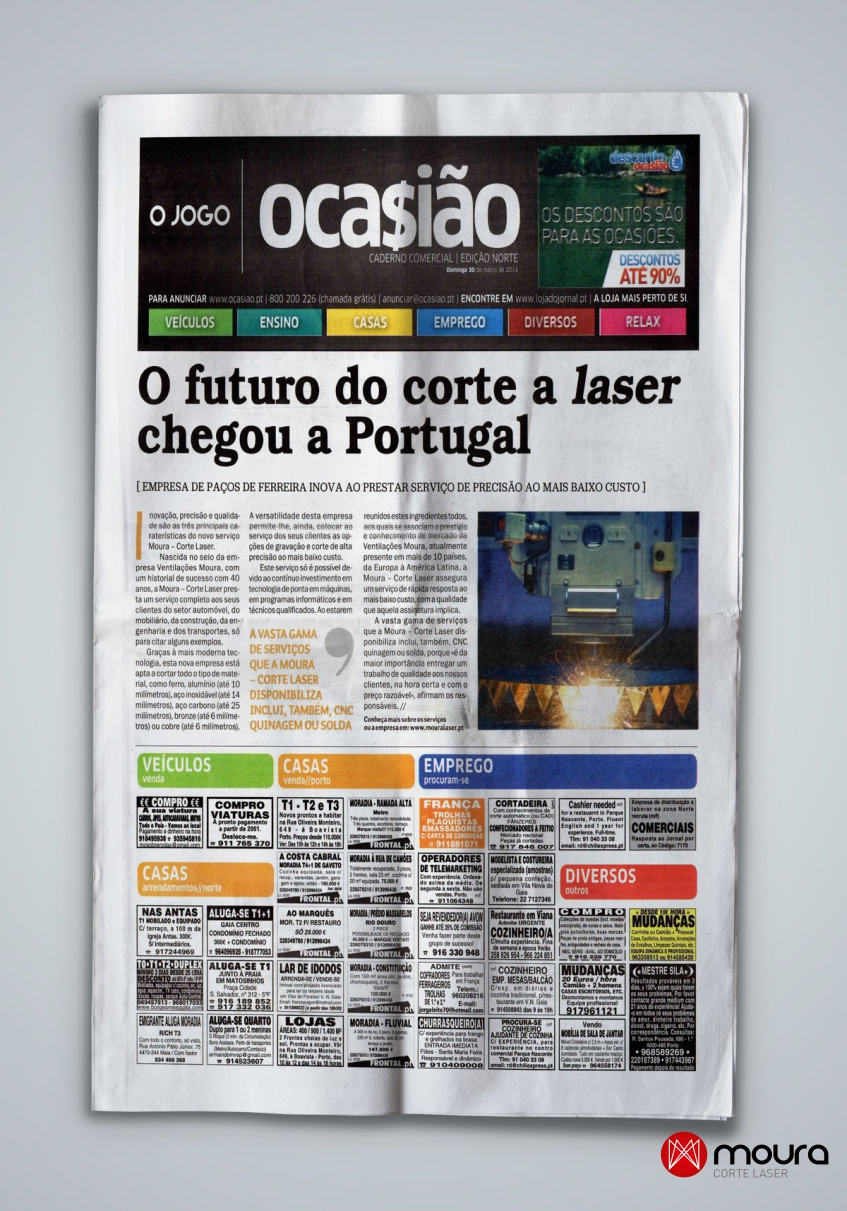 O Futuro do corte a laser chegou a Portugal